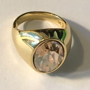 Lola & Grace Swarovski Gold Tone Ring 58